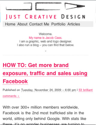 Just-creative-design-mobile-web-design-showcase