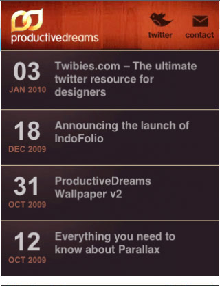 Productive-dreams-mobile-web-design-showcase