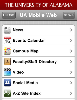 University-of-alabama-mobile-web-design-showcase