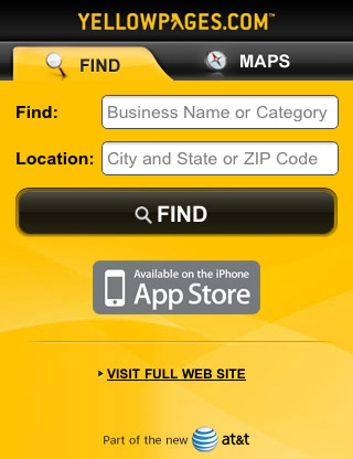Yellow-pages-mobile-web-design-showcase