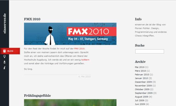 Einserver-minimal-trendy-webdesign-inspiration