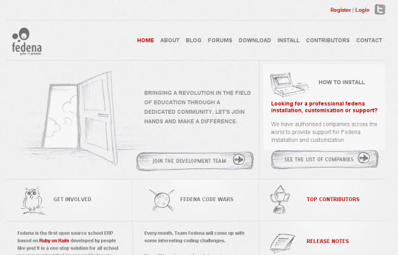 Fedena-minimal-trendy-webdesign-inspiration