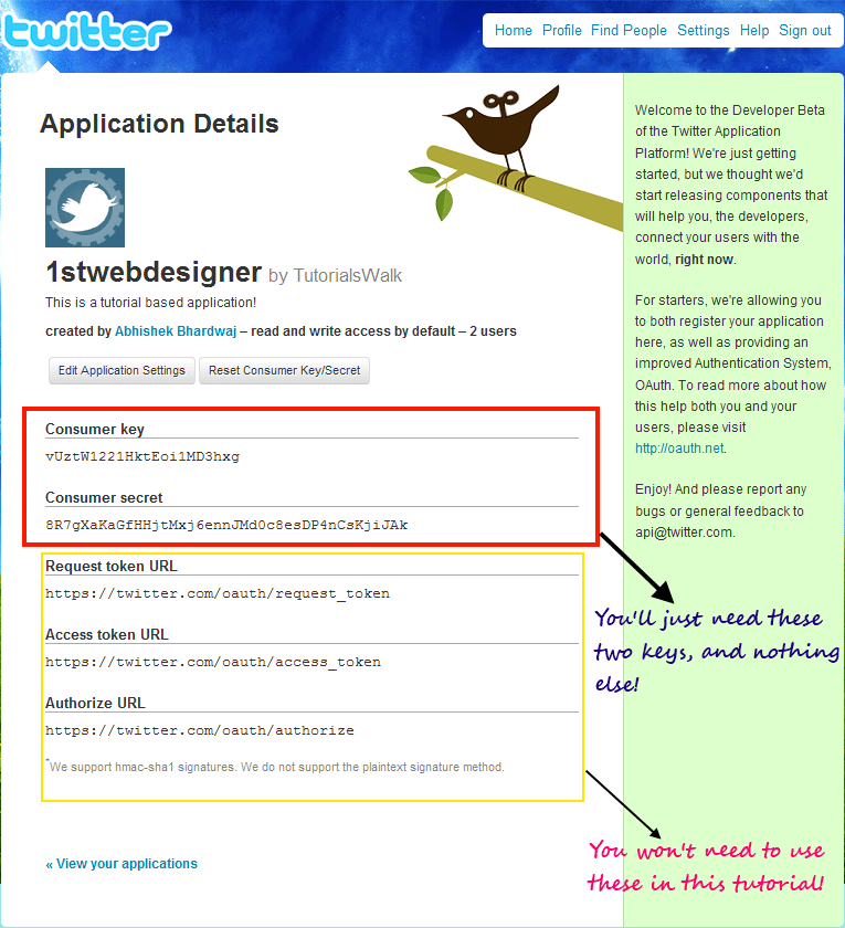 Create a Simple Twitter App with oAuth and PHP Library
