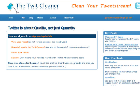 Cleaner-twitter-tools