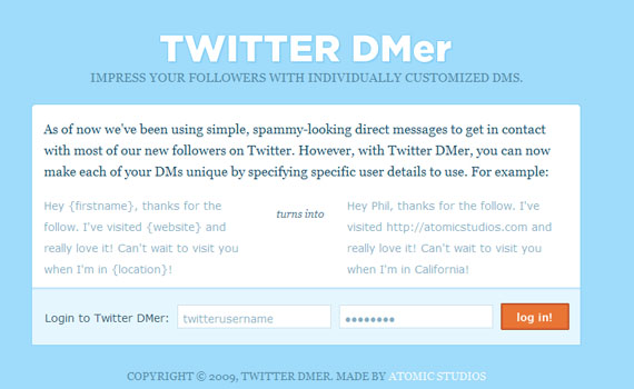 Direct-messeger-twitter-tools