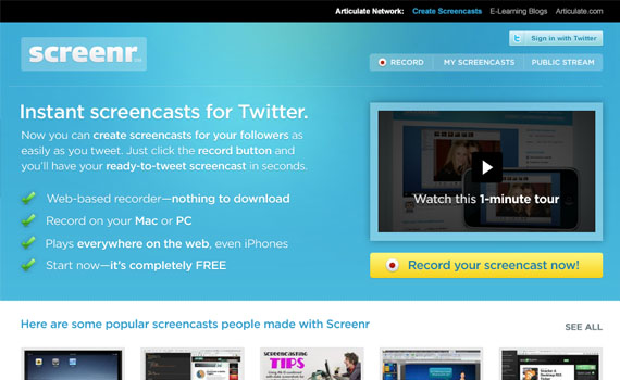 Screenr-twitter-tools