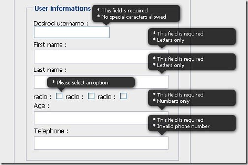 A jQuery inline form validation, because validation is a mess