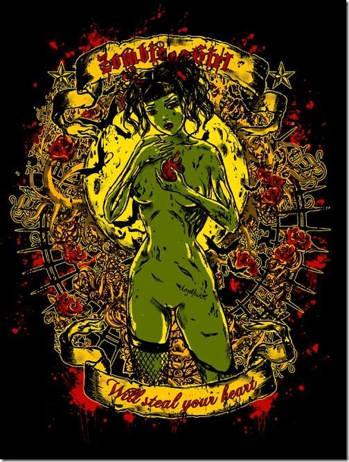 Create Vintage Style Zombie T-shirt