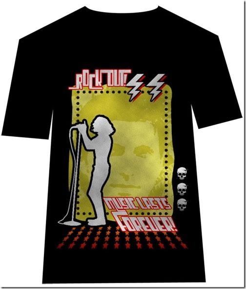 Design a Retro, Rock T-Shirt Design