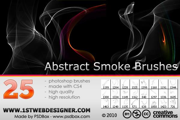 25 абстрактных кистей дыма