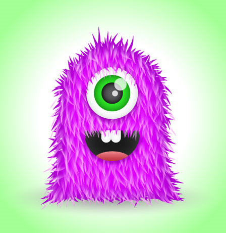 Create-cute-furry-vector-monster-illustrator-character-illustration-tutorials