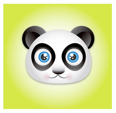 Create-cute-panda-bear-face-icon-character-illustration-tutorials