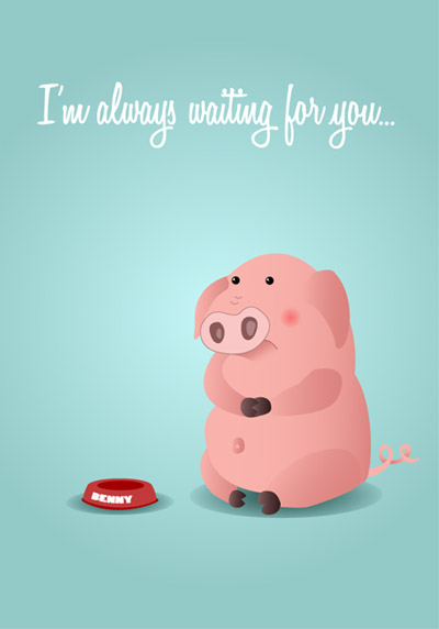 Creating-cute-pig-postcard-character-illustration-tutorials