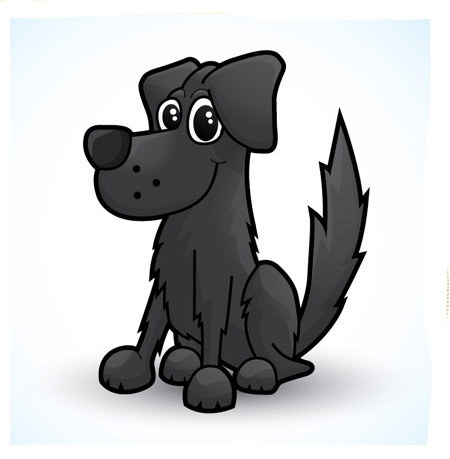 Draw-cute-dog-vector-character-illustration-tutorials