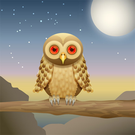 How-to-create-curious-owl-illustrator-cs4-character-illustration-tutorials