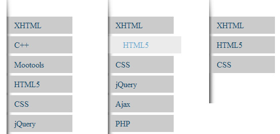 Jquery-style-with-3-css-menu-button-tutorials