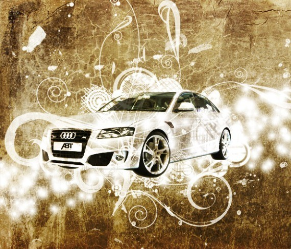 Design a grunge car wallpaper