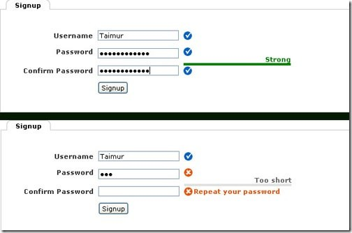 jQuery plugin- Password Validation