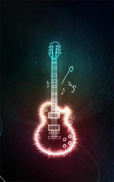 Electrifying-guitar-abstract-lighting-effects-tutorials