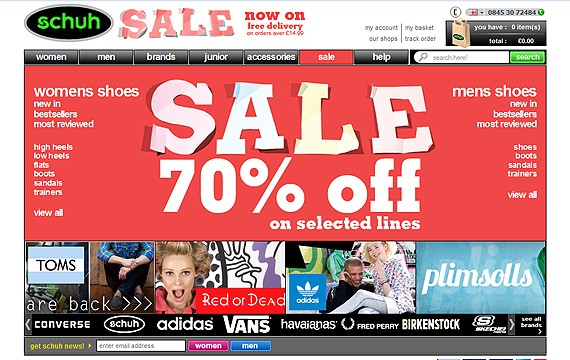 30+ Awesome Online Shoes Stores: Best Practices and Showcase