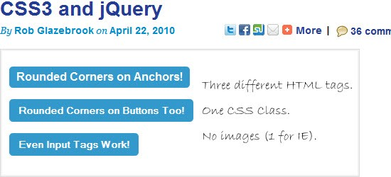 Cross-Browser Rounded Buttons with CSS3 and jQuery