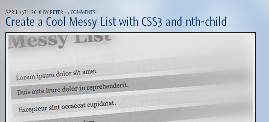 Create a Cool Messy List with CSS3 and nth-child