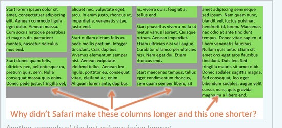 Deal-breaker problems with CSS3 multi-columns