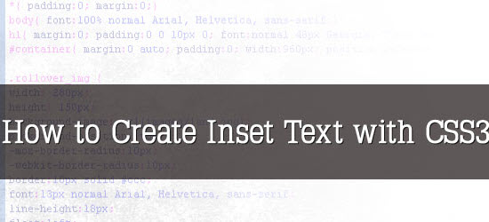 How to Create Inset Text with CSS3