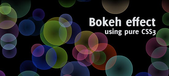 Pure CSS3 bokeh effect with some jQuery help