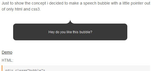 CSS3 Speech Bubble