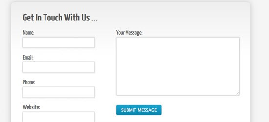 Create A Clean and Stylish CSS3 Contact Form