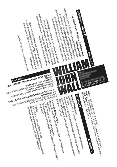 40 impresionantes CV originales para descargar