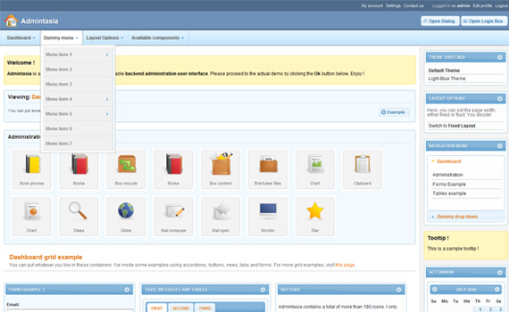 Admintasia Commercial Admin Themes