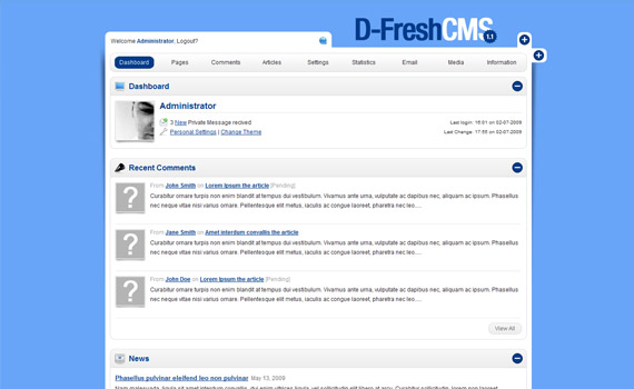 Fresh-cms-commercial-admin-themes