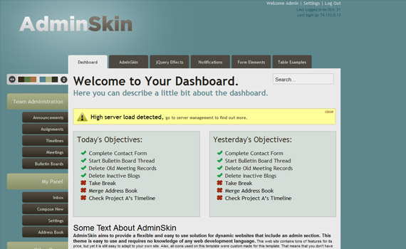 Skin-commercial-admin-themes