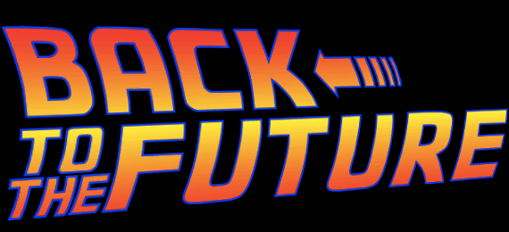 Back to the future CSS only logo