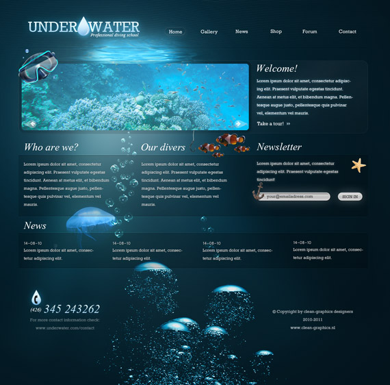 Underwater-deviantart-webdesign-site-inspirational-showcase