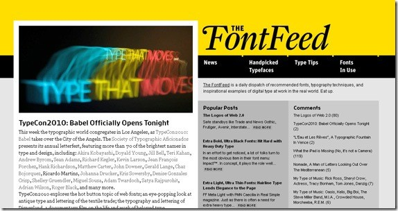 fontfeed-Typography-Font-Related-Blogs