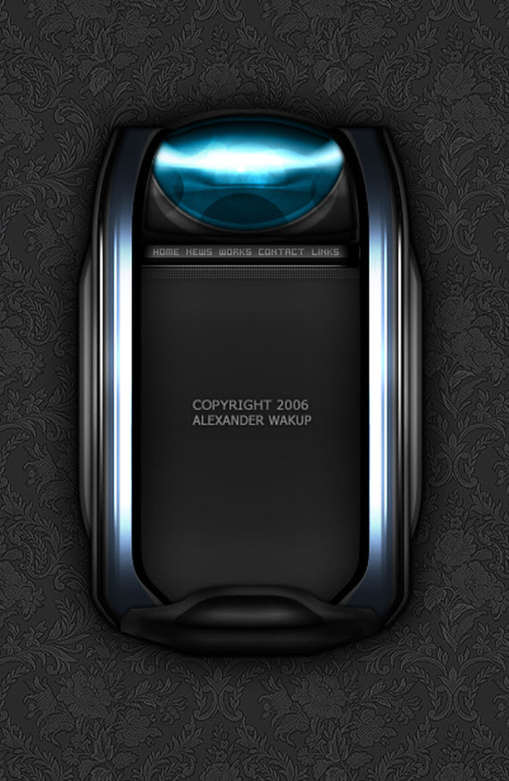 metallic-mini-layout-futuristic-webdesigns-from-deviantart