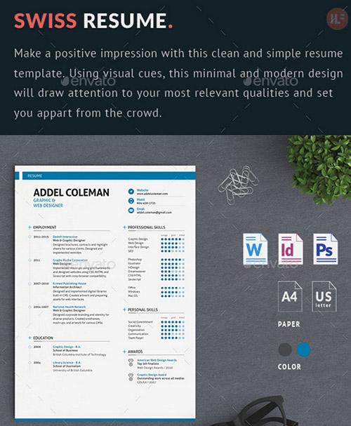 swiss creative resume designs