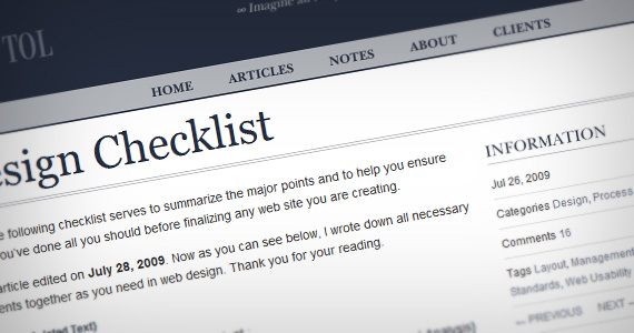 Ultimate-web-design-checklists