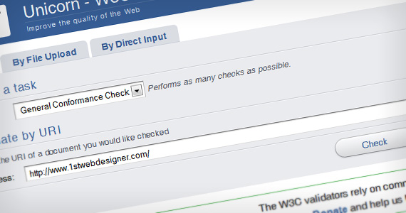 Unicorn-validator-w3c-useful-web-design-checklists