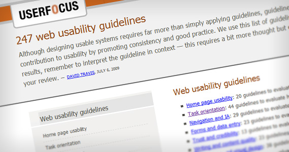 Usability-guidelines-web-design-checklists