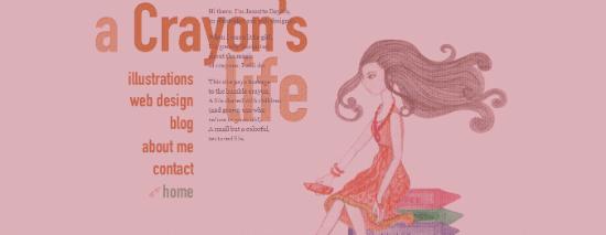 23 Crayons Life 1285056954117 45 Ejemplos de ilustraciones en páginas web