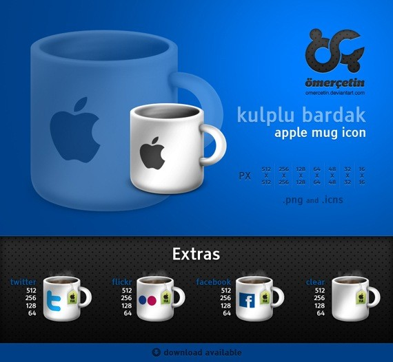 Apple Mug Icons and Extras