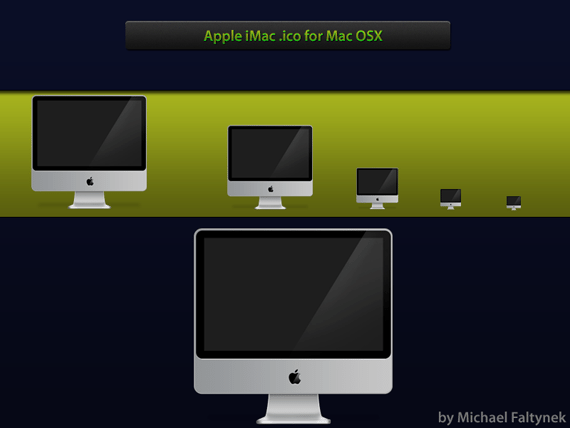 Apple iMac icns for Mac OSX