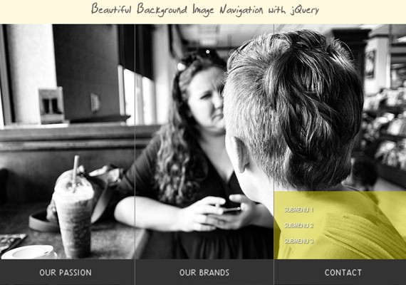BeautifulBackgroundImageNavigation 20+ Efectos de jQuery brillantes