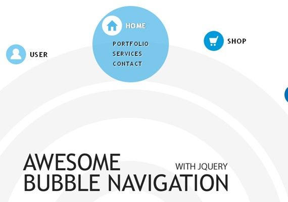 BubbleNavigation 20+ Efectos de jQuery brillantes
