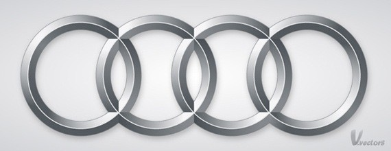 Create the Audi logo