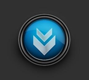 Design a Glossy Download Icon
